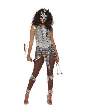 Adult Dark Spirit Warrior Costume Couples Costume