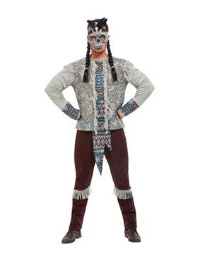 Adult Dark Spirit Warrior Costume - Back View