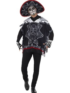 Adult Day of the Dead Bandit Costume Thumbnail