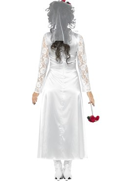 Adult Day of the Dead Bride Costume - Side View