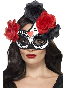 Adult Day of the Dead Crescent Eyemask