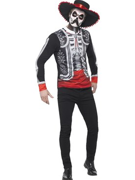 Adult Day of the Dead El Senor Costume Couples Costume