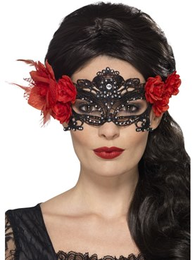 Adult Day of the Dead Filigree Eyemask