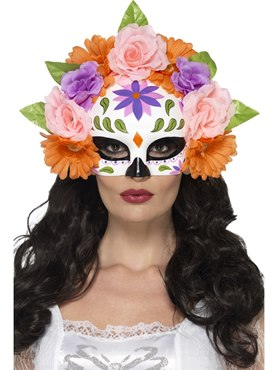 Adult Day of the Dead Floral Eyemask