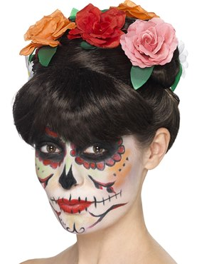 Adult Day of the Dead Frida Wig