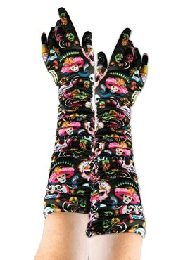 Adult Day of the Dead Gloves