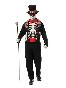 Adult Day Of The Dead Man Costume