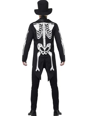 Adult Day of the Dead Senor Skeleton Costume - Side View