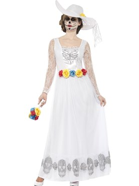 Adult Day of the Dead Skeleton Bride Costume