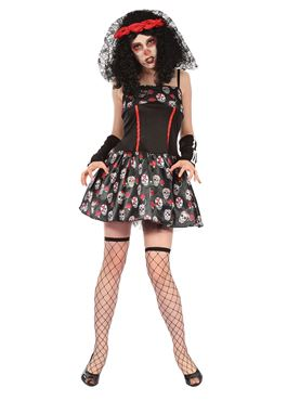 Adult Day of the Dead Skeleton Dress Costume