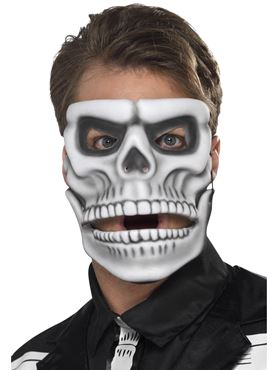 Adult Day of the Dead Skeleton Mask - Back View