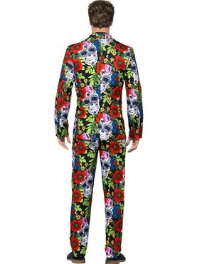 Adult Day of the Dead Stand Out Suit - Side View