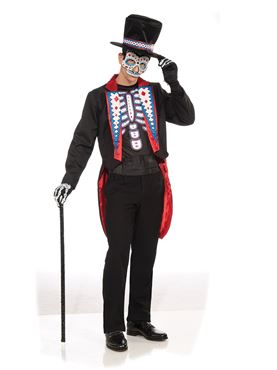 Adult Day of the Dead Suit Costume