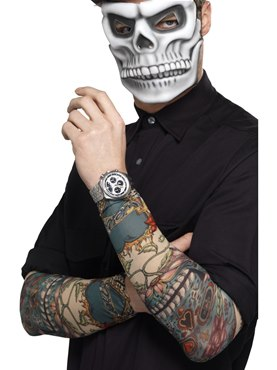 Adult Day of the Dead Tattoo Sleeves