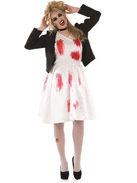Adult Dead Rock Chick Bride Costume