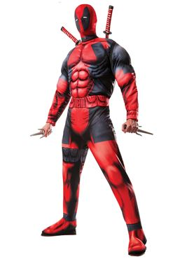 Adult Deadpool Muscle Chest Costume