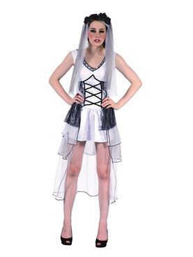 Adult Deathly Bride Costume Thumbnail