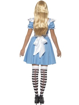 Adult Deck of Cards Alice Girl Costume - Side View