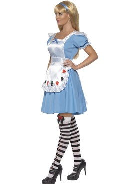 Adult Deck of Cards Alice Girl Costume - Back View