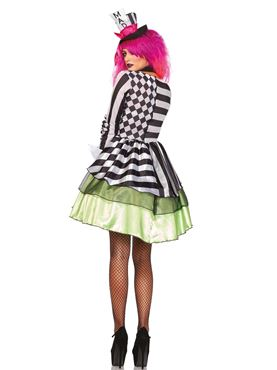 Adult Deliriously Mad Hatter Costume - Back View