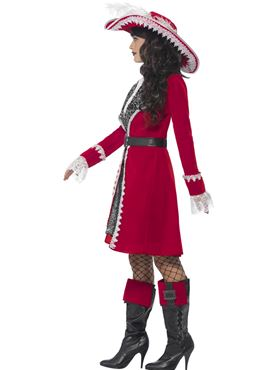 Adult Deluxe Authentic Lady Captain Costume - Back View