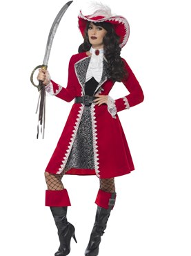 Adult Deluxe Authentic Lady Captain Costume Couples Costume