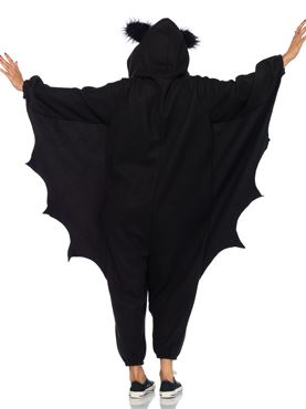 Adult Deluxe Bat Kigarumi Funsie Costume - Back View