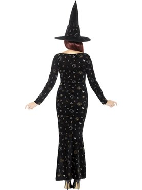 Adult Deluxe Black Magic Ouija Witch Costume - Side View