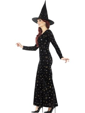 Adult Deluxe Black Magic Ouija Witch Costume