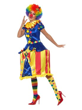 Adult Deluxe Carousel Clown Costume - Back View