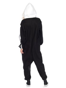 Adult Deluxe Skeleton Kigarumi Funsie Costume - Back View