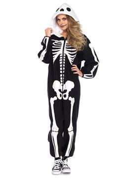 Adult Deluxe Skeleton Kigarumi Funsie Costume Thumbnail