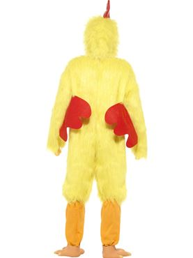 Adult Deluxe Chicken Costume - Back View