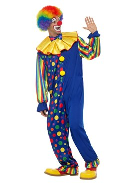 Adult Deluxe Clown Costume - Back View