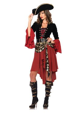 Adult Deluxe Cruel Seas Captain Costume