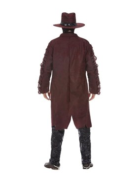 Adult Deluxe Dark Spirit Western Cowboy Costume - Side View