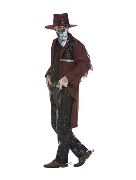 Adult Deluxe Dark Spirit Western Cowboy Costume - Back View