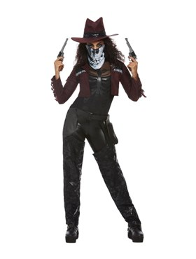 Adult Deluxe Dark Spirit Western Cowgirl Costume