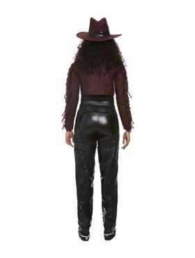 Adult Deluxe Dark Spirit Western Cowgirl Costume - Side View