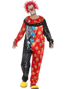 Adult Deluxe Day of the Dead Clown Costume