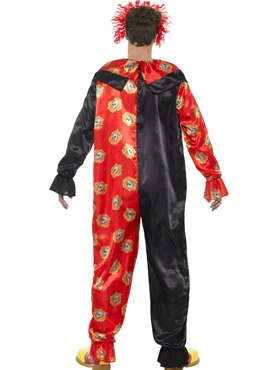 Adult Deluxe Day of the Dead Clown Costume - Side View