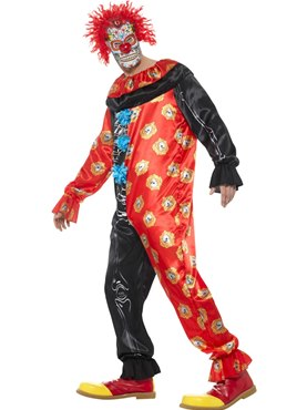 Adult Deluxe Day of the Dead Clown Costume - Back View