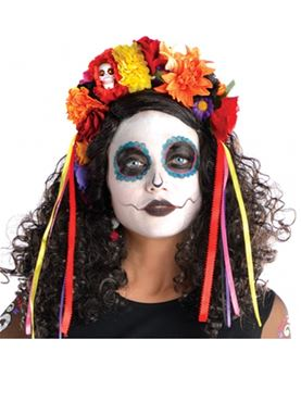 Adult Deluxe Day of the Dead Headband
