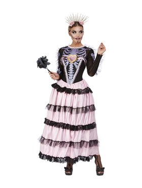 Adult Deluxe DOTD Senorita Costume - Back View