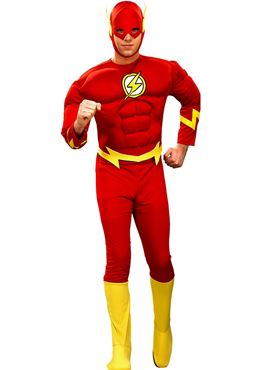 Adult Deluxe Flash Muscle Chest Costume