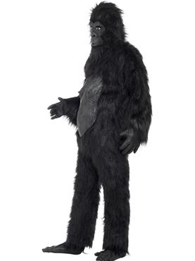 Adult Deluxe Gorilla Costume - Back View