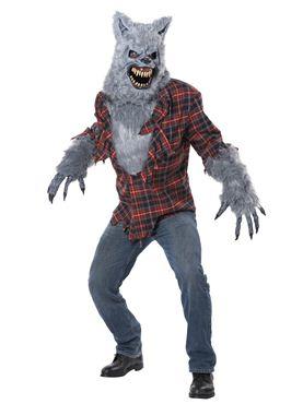 Adult Deluxe Grey Lycan Werewolf Costume