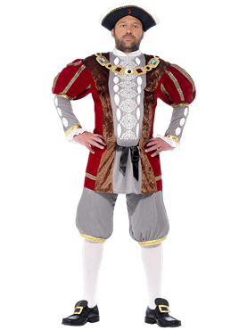 Adult Deluxe King Henry VIII Costume Couples Costume