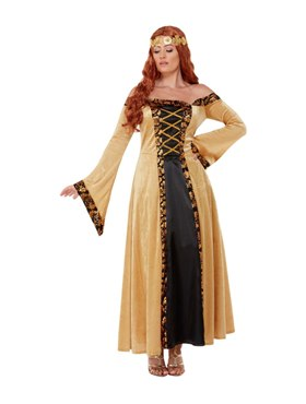 Adult Deluxe Medieval Countess Costume - Back View