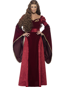 Adult Deluxe Medieval Queen Costume Couples Costume